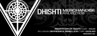 Dhishti Releases new merchandise: Meditation of Death CD from Rigorism Production and 'Depressive Rebellion' T-shirt