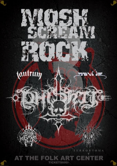 Mosh Scream Rock Poster