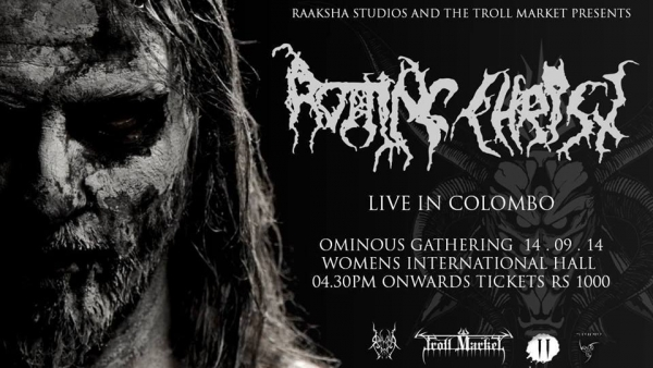 Dhishti opens for Rotting Christ at Ominous Gathering 2014, Colombo